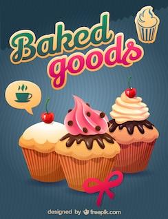 Imagen vectorial de cupcakes