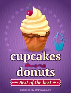 Ilustración cupcake