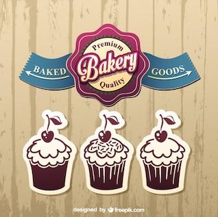 Diseños de stickers con cupcakes