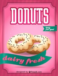 Imagen vectorial de donuts