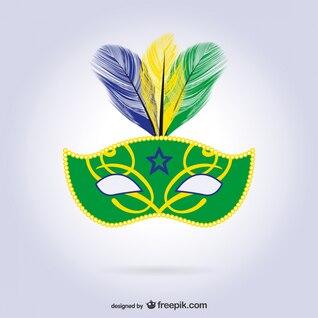Máscara del carnaval de Rio