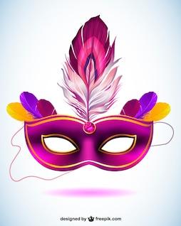Máscara carnaval en formato vectorial