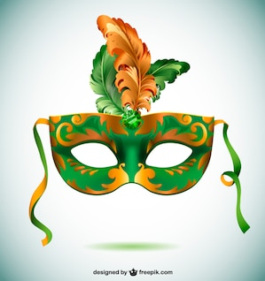 Máscara carnaval de Brasil