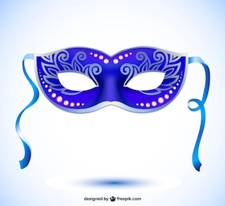Imagen máscara de carnaval en formato vectorial