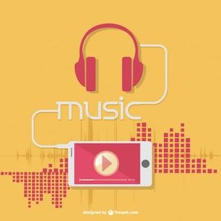 Auriculares y música