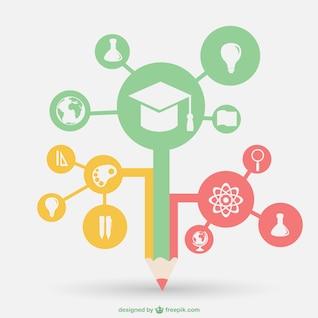 Vector información de la escuela