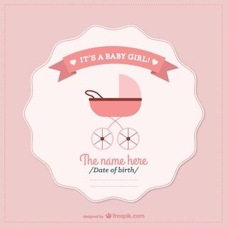 Bebé ducha tarjeta vector