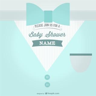 Invitación azul para baby shower