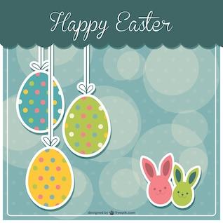 Huevos de Pascua de colores vintage
