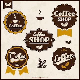 Conjunto de insignias retro de café