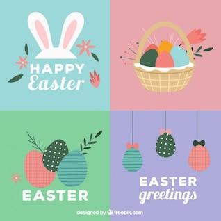 Conjunto de tarjetas de Pascua