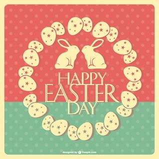 Tarjeta retro de Pascua