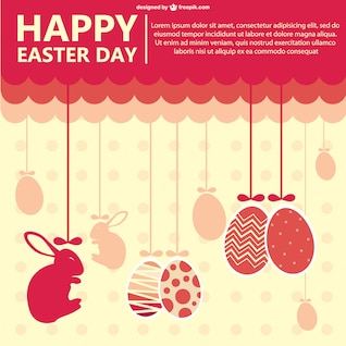 Plantilla de feliz día de Pascua