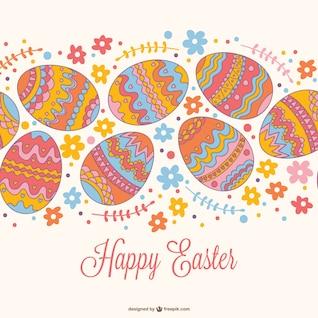 Diseño para felicitación de Pascua