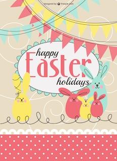 Plantilla de tarjeta de Pascua