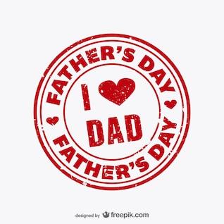 Vector sello para el día del padre