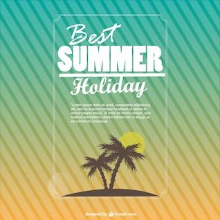 Verano vacaciones de fondo vector