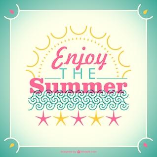 Tipografía disfruta del verano