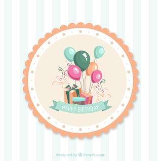 tarjetas de cumpleaños de dibujos animados de vectores