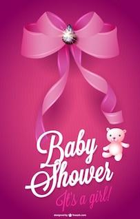Tarjeta libre de la ducha del bebé
