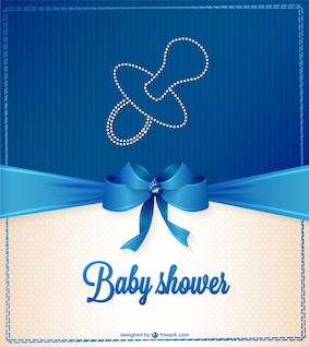 Elegante tarjeta de baby shower
