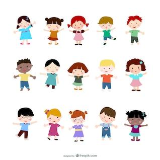 los niños de dibujos animados de vectores