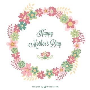 Tarjeta floral feliz día de la madre
