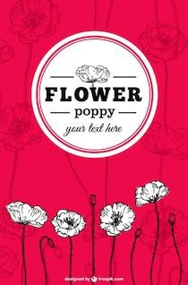 Flores de amapola vector
