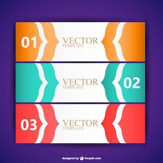 Vector de banners