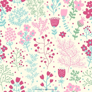 Diseño de patrón floral