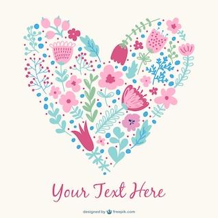 Diseño de corazón floral