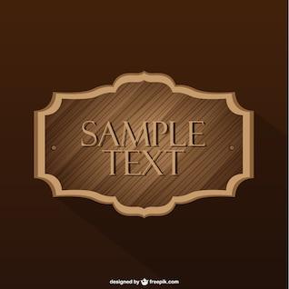 Etiqueta de madera de la vendimia