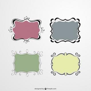 Marcos ornamentales de estilo retro