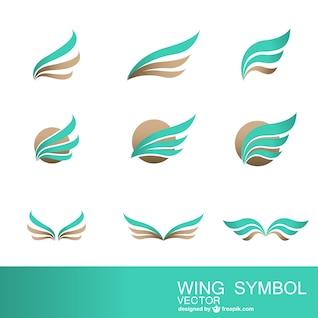 Colección de símbolos abstractos