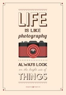 Tipografía de fotografía vintage
