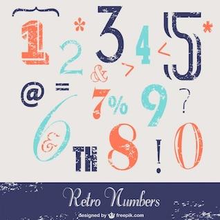 Números retro para descarga gratuita