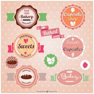 Pegatinas panadería de la vendimia