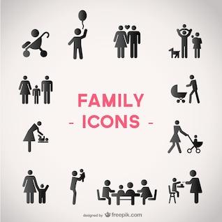 Iconos vectoriales de familia