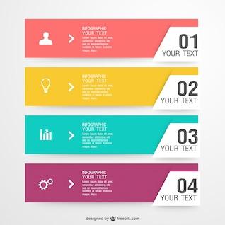 Elementos de las etiquetas infográficas gratuitas