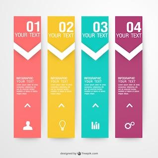 Vector de infografía con etiquetas de colores