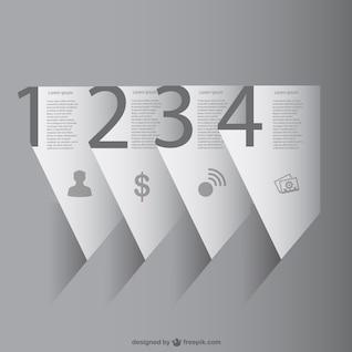 Infografía 3D de papel