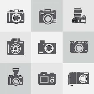 Conjunto de iconos de cámaras de fotos