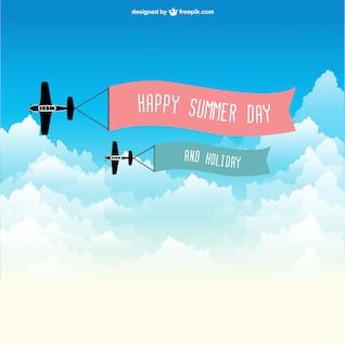 Avión con cartel de verano