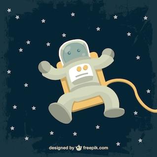 Astronauta carácter vectorial libre descarga