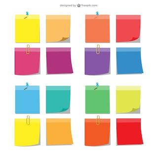 Conjunto de notas adhesivas de colores
