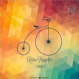 Vector de bicicleta retro para descarga gratuita