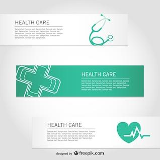 Libre de asistencia sanitaria vector banners