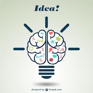 Ilustración creativa de cerebro