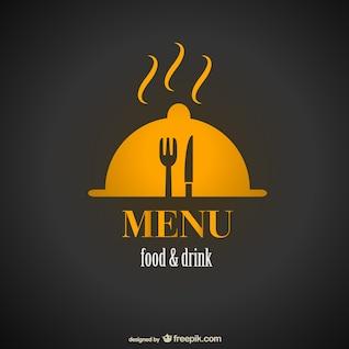 Diseño del menú del restaurante de la vendimia libre