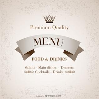 Plantilla premium de carta de restaurante